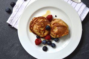 Vollkorn-Bananen-Pancakes